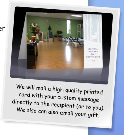 We will mail a high quality printed card with your custom message directly to the recipient (or to you). We also can also email your gift.