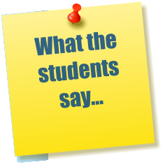 What the students say...